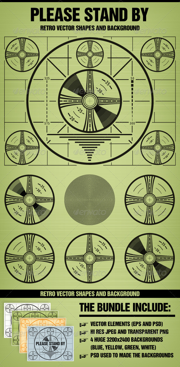 GraphicRiver Please stand by Television test pattern 160334