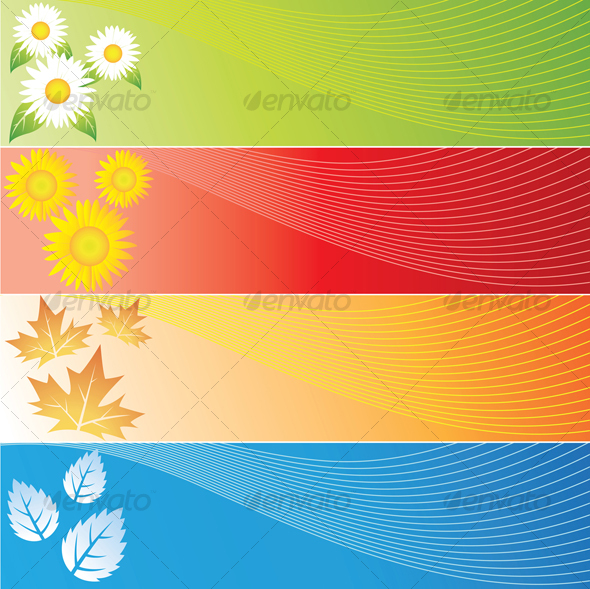 GraphicRiver four seasons banners 53501