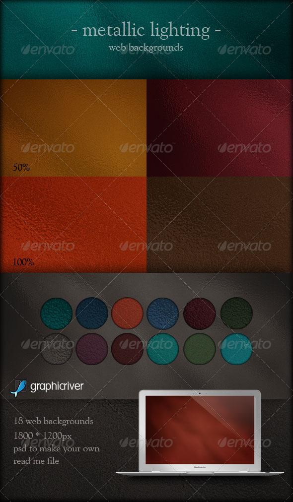 GraphicRiver Metallic Lighting Web Backgrounds 161509