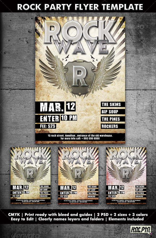 GraphicRiver Rock Party Concert Flyer Template 161534
