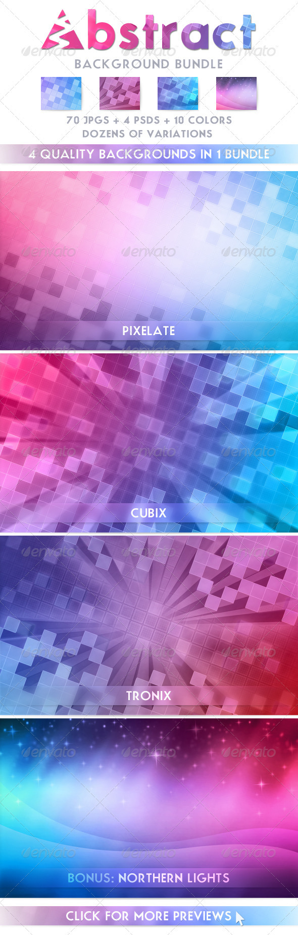 GraphicRiver Abstract Background Bundle 1350464