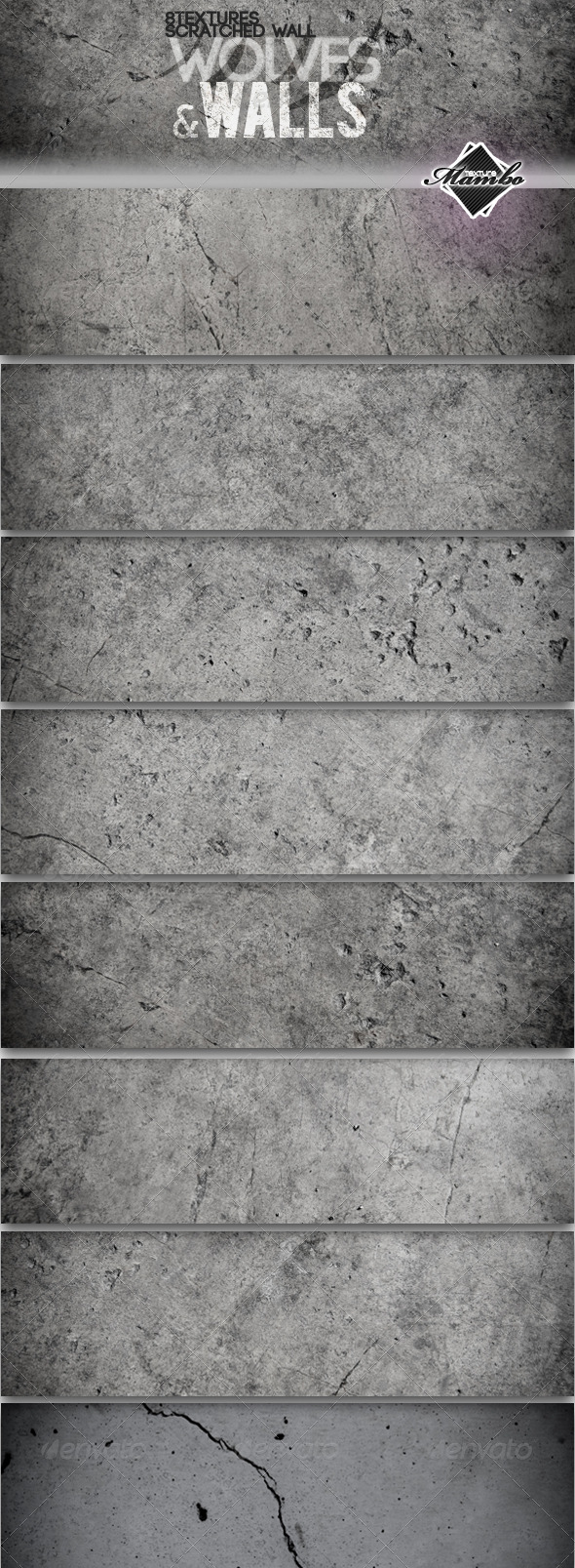 GraphicRiver Wolves & Walls Concrete wall textures 161673
