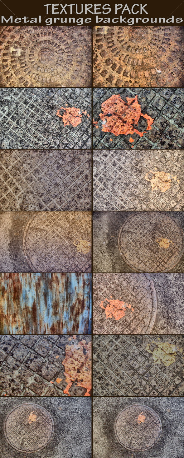 Graphic River Metal grunge backgrounds Textures -  Industrial / Grunge 161846