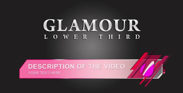 After Effects Project - VideoHive Glamour Lower Thirds 1353543