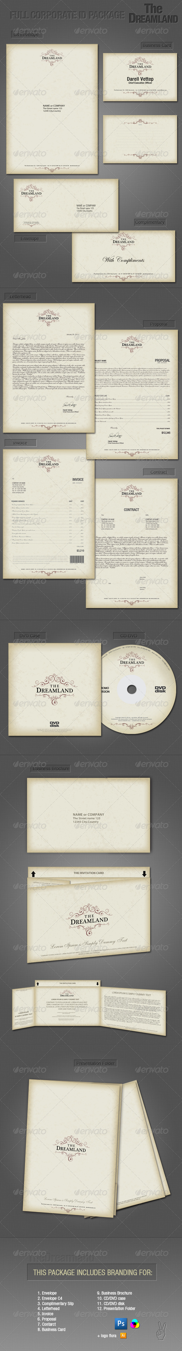 GraphicRiver Full Corporate ID Package Dreamland 101553