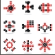 set of vector abstract icons - GraphicRiver Item for Sale
