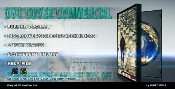 After Effects Project - VideoHive The DVD Cover Commercial 162226