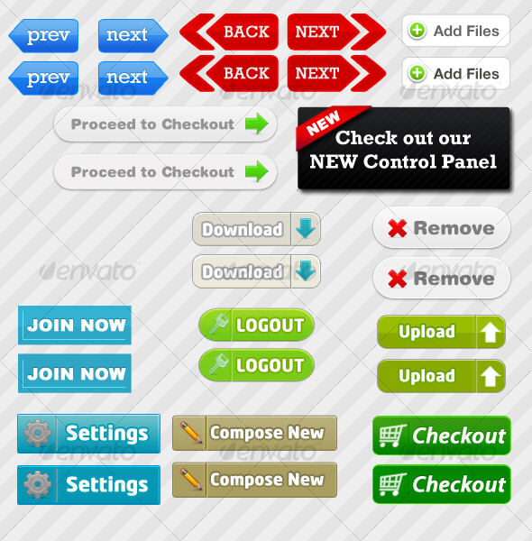 GraphicRiver 15 Web Buttons 53952