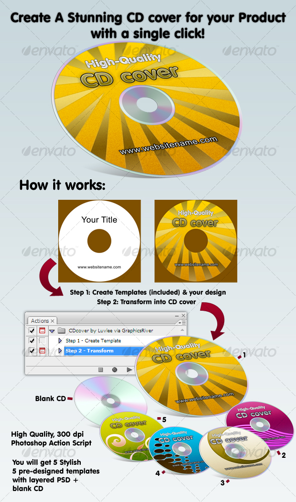 GraphicRiver Amazing Compact Disk eCover Action & Templates 53956