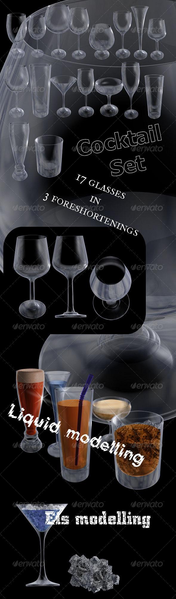 GraphicRiver Cocktail Set 158193
