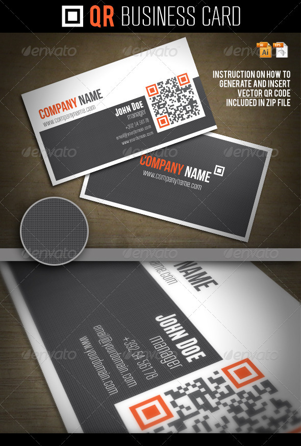 GraphicRiver QR Business Card 1361513