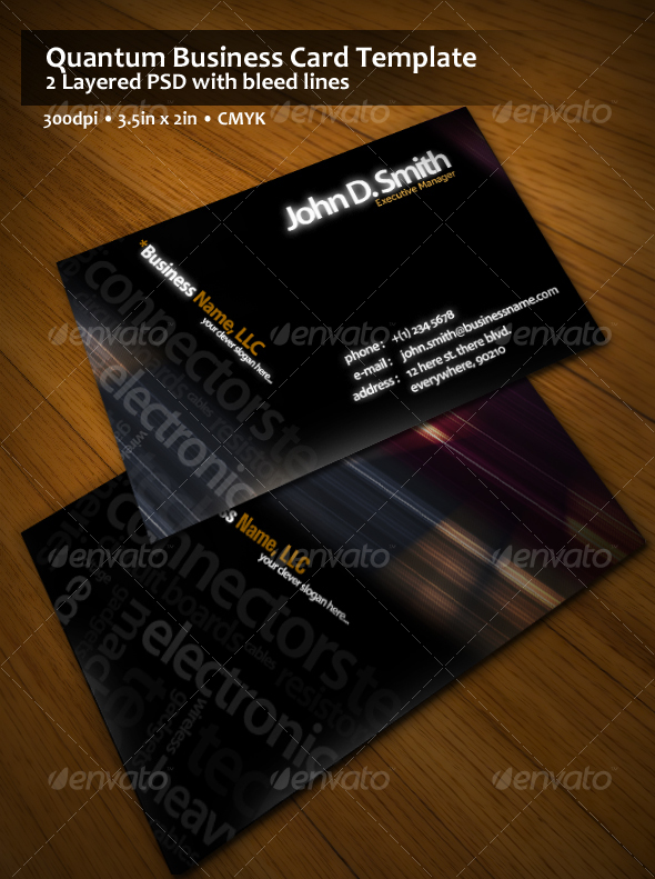 GraphicRiver Quantum Business Card Template 54164