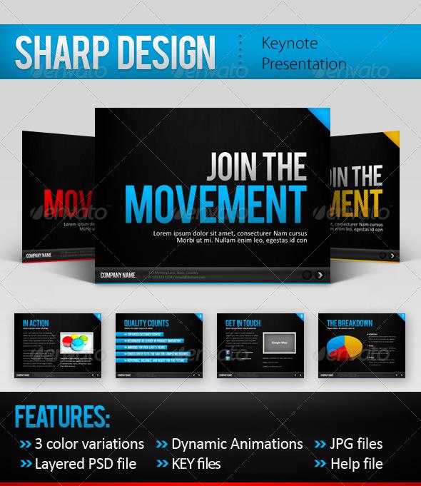 GraphicRiver Sharp Design Keynote Template 163071
