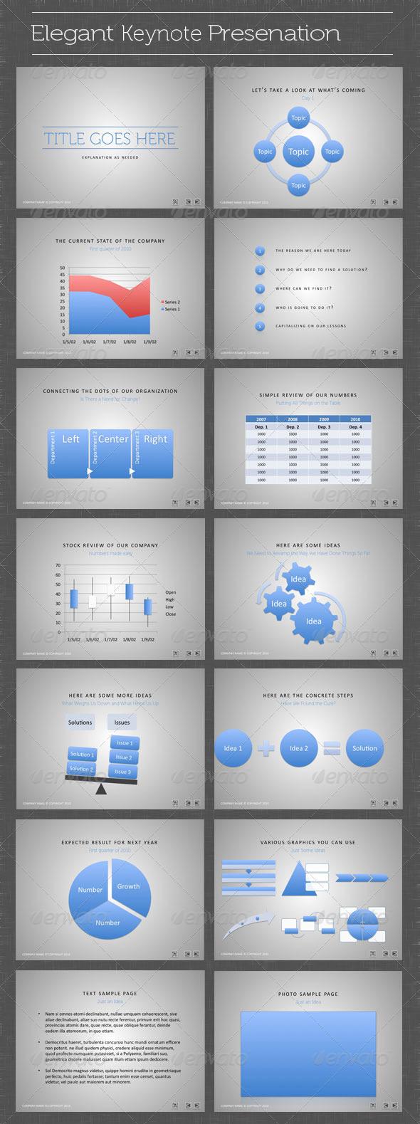 GraphicRiver Elegant Keynote Presentation 163093