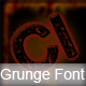 Grunge Font - GraphicRiver Item for Sale