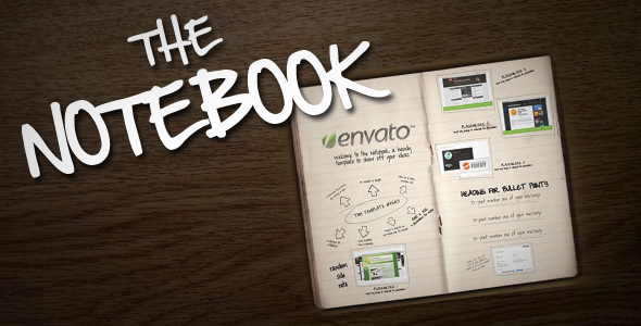 After Effects Project - VideoHive The Notebook 163340