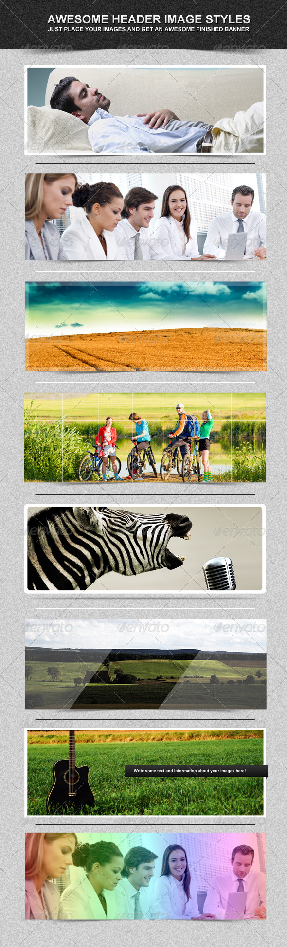 GraphicRiver Banner Header Image Styles 163342