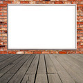 Blank billboard on brick wall - PhotoDune Item for Sale