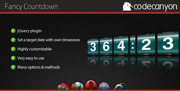 CodeCanyon Fancy Countdown jQuery plugin 163489