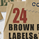 Brown Paper Labels & Tags - assorted shapes  - GraphicRiver Item for Sale