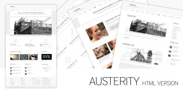 ThemeForest Austerity HTML Version 163645