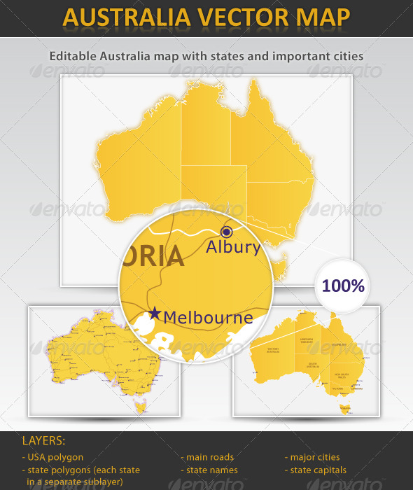 GraphicRiver Australia layered vector map 164167