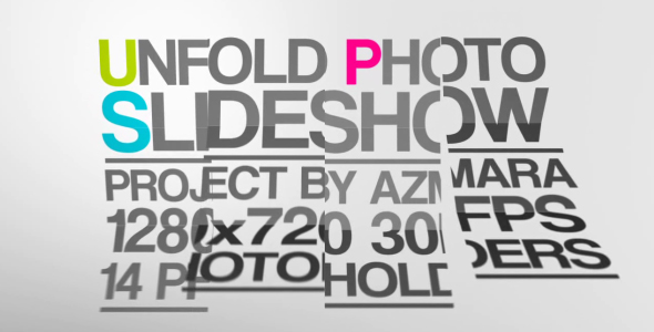 After Effects Project - VideoHive Unfold Photo Slideshow 164176