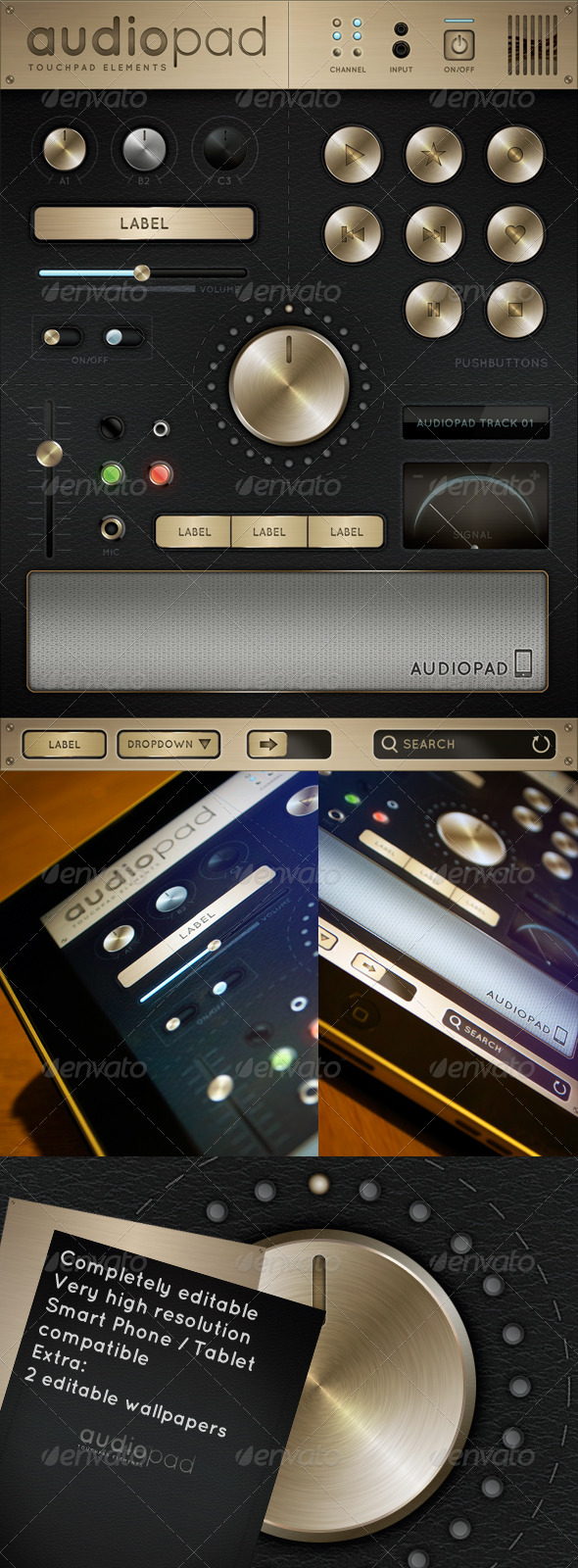GraphicRiver Audiopad Touch User Interinterface 163862