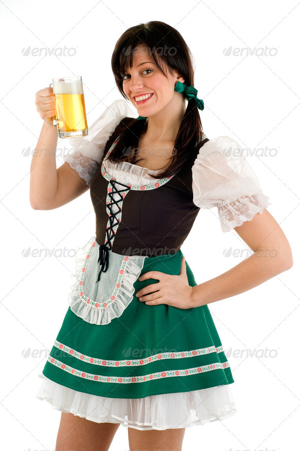 Beer Girl - Stock Photo   PhotoDune