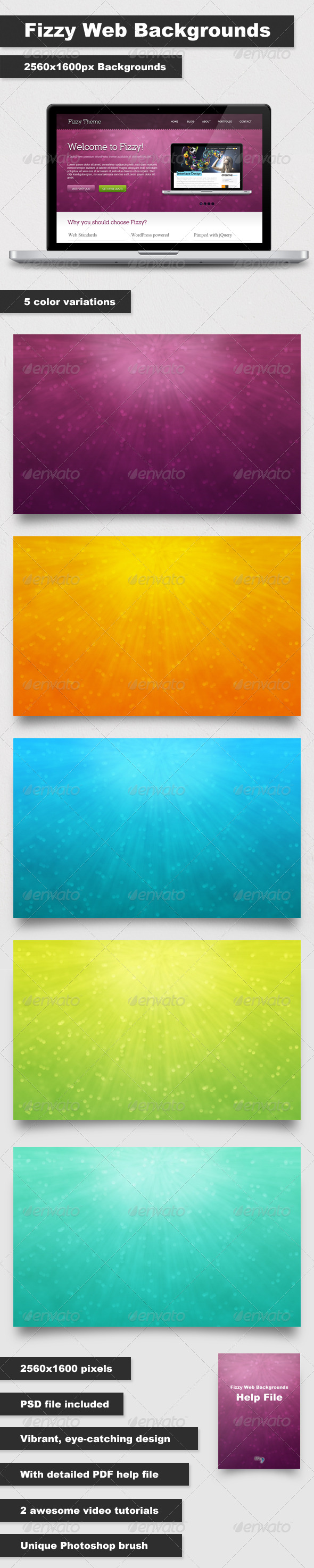 GraphicRiver Fizzy Web Backgrounds 164449
