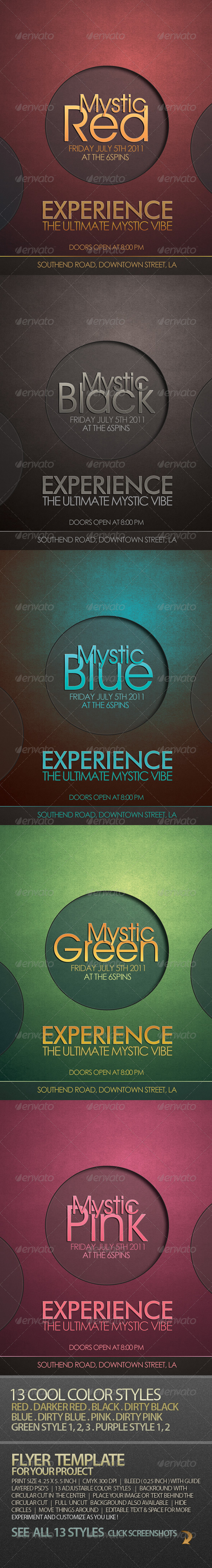 GraphicRiver Mystic Cool Flyer Template For Your Project 164692