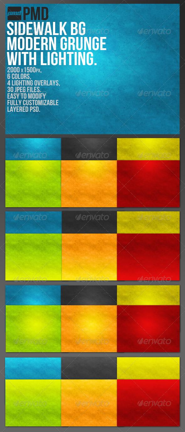 GraphicRiver Sidewalk BG Modern Grunge Background 164699