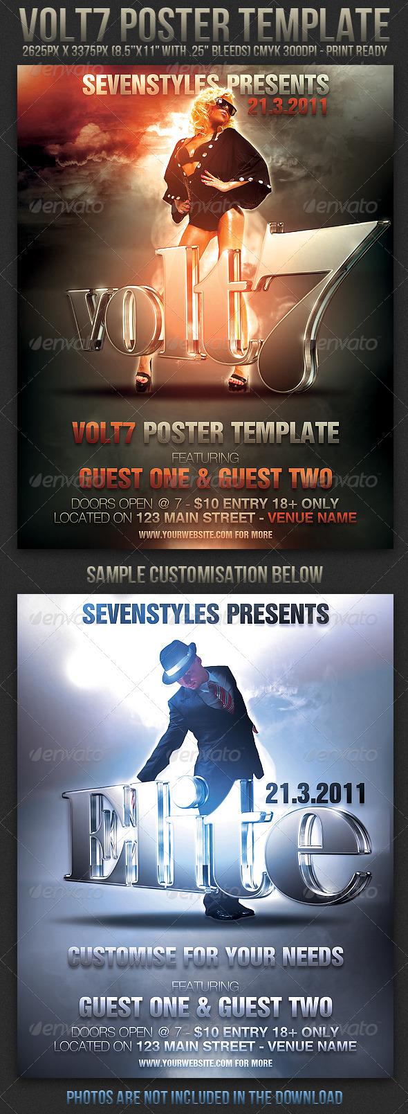 GraphicRiver Volt7 Poster Flyer Template 164903