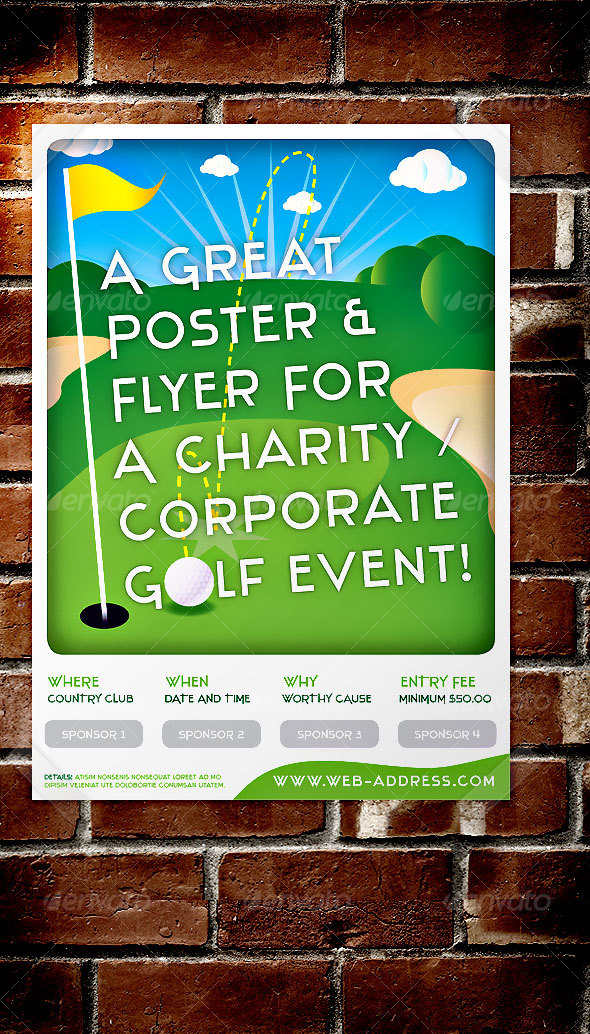 GraphicRiver Golf Event Poster Flyer for Corp Social use 54800