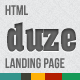 Duze landing page HTML template - ThemeForest Item for Sale