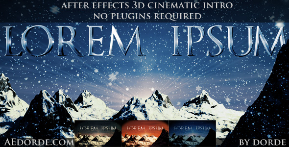 After Effects Project - VideoHive Lorem Ipsum 165052