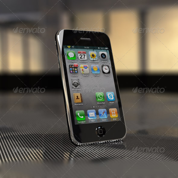 3DOcean iPhone 3GS 3D Models -  Electronics  Phone 165099