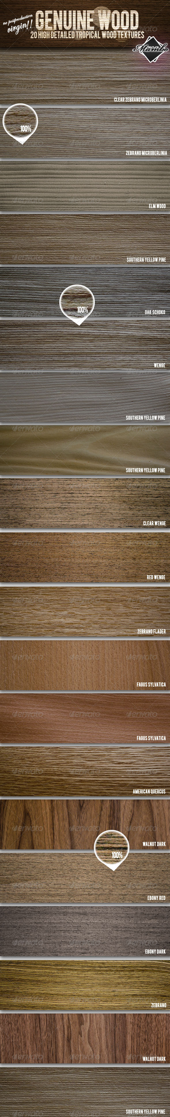 GraphicRiver Genuine Wood 20 Tropical Wood Textures 165235