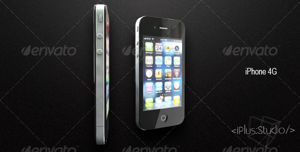 3DOcean iPhone 4G 3D Models -  Electronics  Phone 165283
