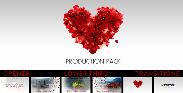 After Effects Project - VideoHive romantic production pack 1389087