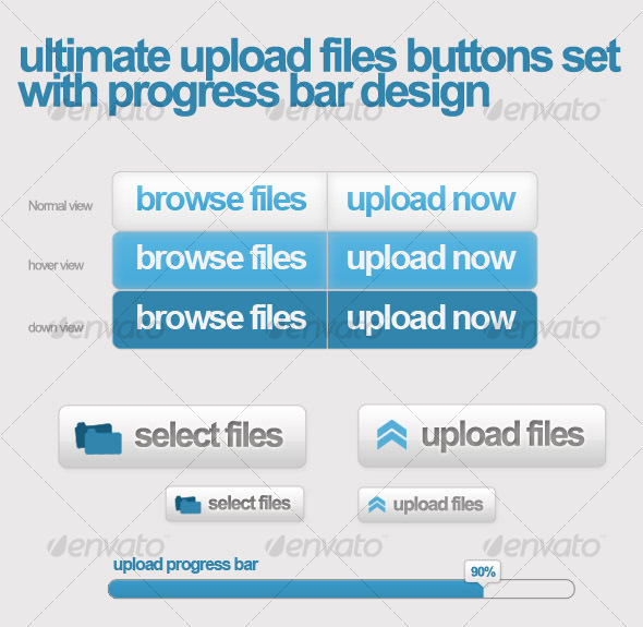 GraphicRiver Upload files buttons w css sprit & progress bar 55119