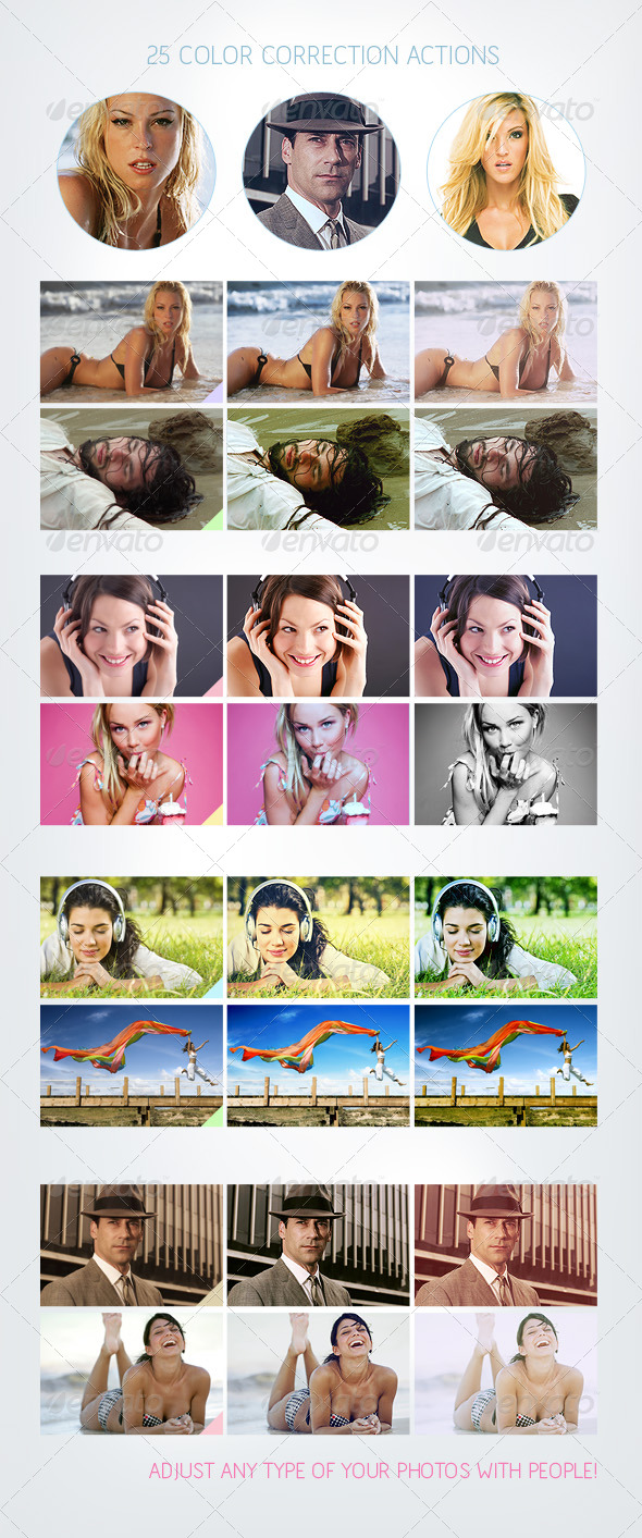 GraphicRiver 25 Color Correction Actions 165589