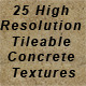 25 High Resolution Concrete Textures - 3DOcean Item for Sale