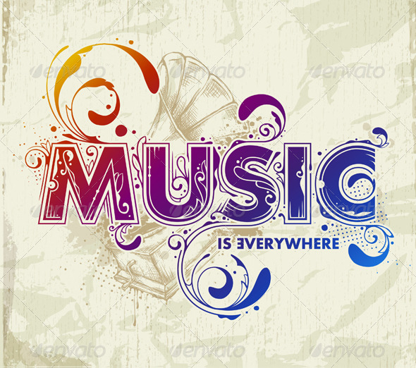 GraphicRiver Hand drawn music lettering 166105