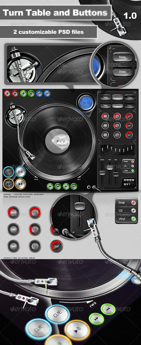 GraphicRiver Turntable and Buttons 166153