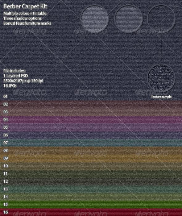 Graphic River Berber Carpet Kit Graphics -  Backgrounds  Patterns 1398299