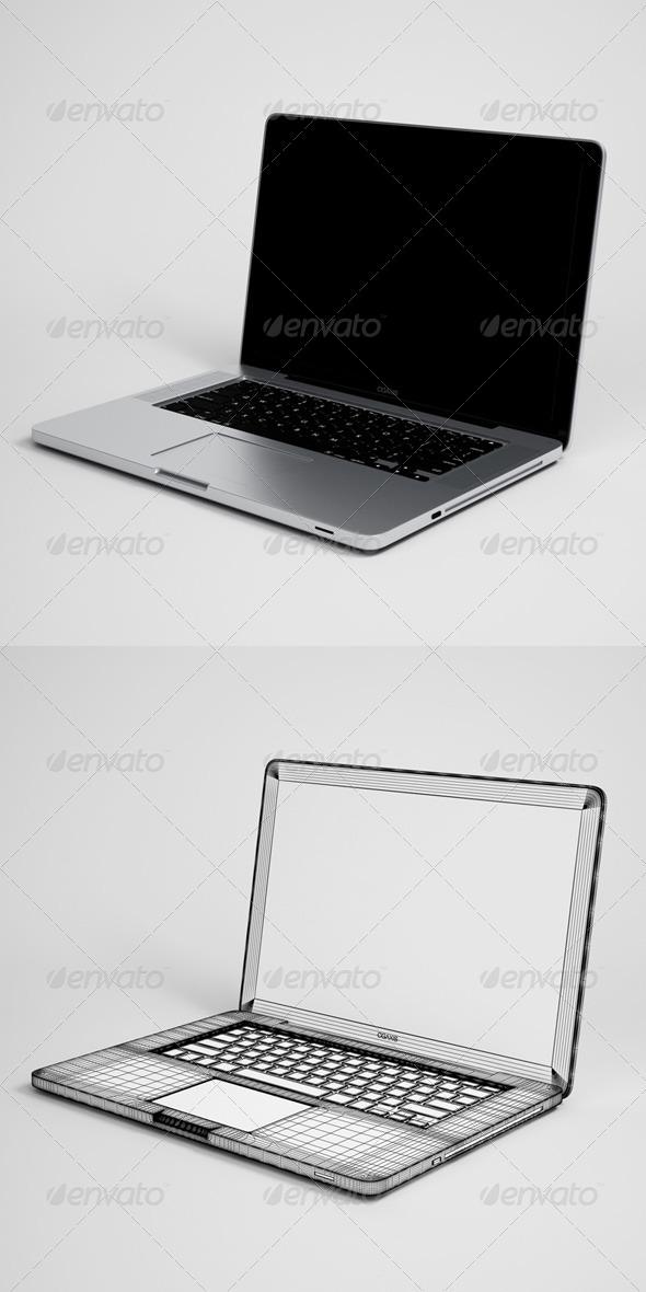 3DOcean CGAxis Laptop Computer Electronic 13 166326