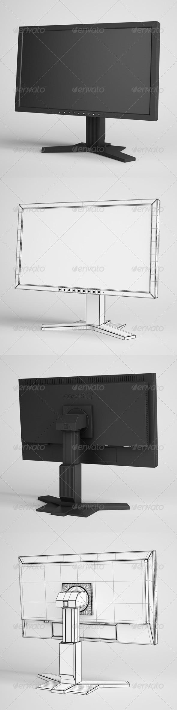 3DOcean CGAxis Flatscreen Monitor Electronics 20 3D Models -  Electronics 166336