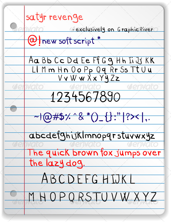 GraphicRiver Satyr Revenge Freehand Font 166347