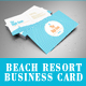 Hotel, Beach Resort, Swimming Club Business Card - GraphicRiver Item for Sale